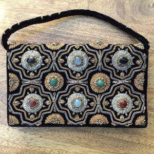 Vintage Kane M Authentic Stone Clutch Wristlet Bag